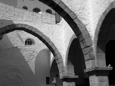 Monastery Arches Art Print by Larry Bohlin