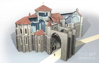 Pilgrimmage Photograph - Monastery At Castrojeriz, Artwork by Jose Antonio Pe??as
