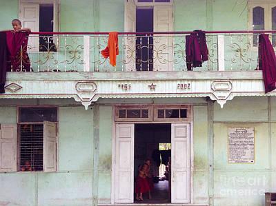 Photograph - Monastery For Orphans Near Shwenandaw Kyaung Mandalay Burma by Ralph A  Ledergerber-Photography