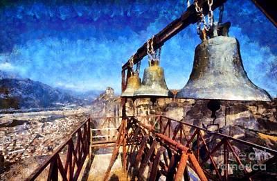 Greek Painting - Monastery In Meteora by George Atsametakis