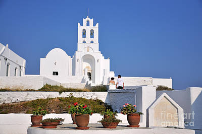 Photograph - Monastery In Sifnos Island by George Atsametakis