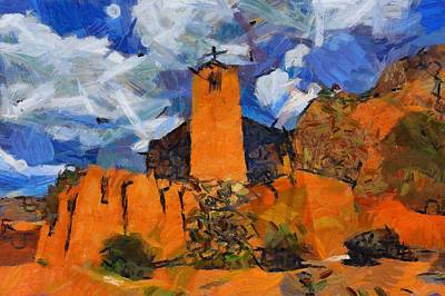 Digital Art - Monastery In The Clouds by Carrie OBrien Sibley