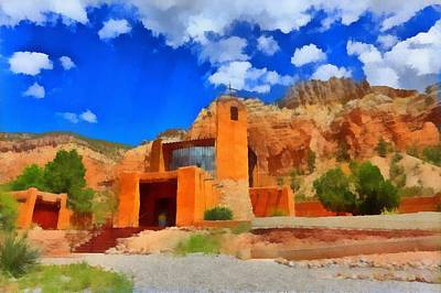 Digital Art - Monastery  In The Mountains by Carrie OBrien Sibley