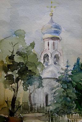 Monastery Art Print by Khromykh Natalia