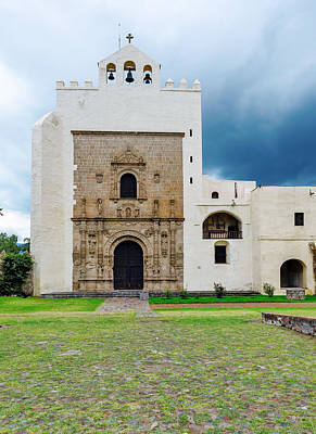 Photograph - monastery of San Agustin in town of Acolman Mexico by Marek Poplawski