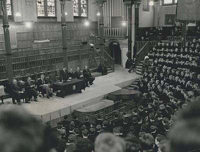 Monday Assembly In The Speech Room At Harrow School Art Print by Retro Images Archive
