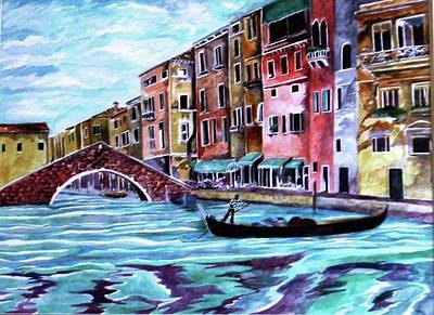 Painting - Monday In Venice by Kandy Cross