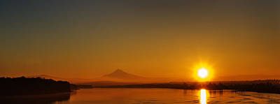 Monday Morning Columbia River Mount Hood Art Print by Michael Rogers