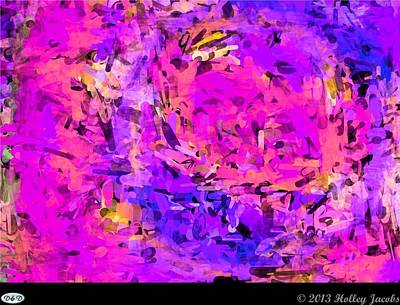 Digital Art - Monday Night Pink by Holley Jacobs