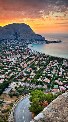 Mondello Beach Sunset Art Print by Viacheslav Savitskiy