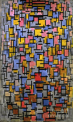 Photograph - Mondrian Composition 1916 by Granger