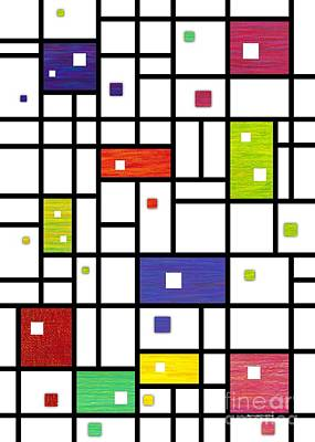 Mondrian-like Art Print