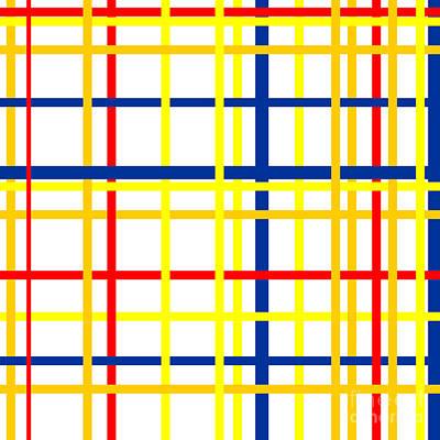 Grateful Dead - Mondrian Lines by Celestial Images