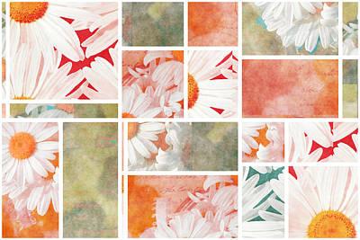 Mondrianity - Daisies 02 Art Print