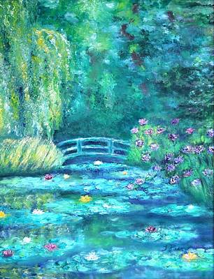 Painting - Monet Bridge Dream by Tracey Peer