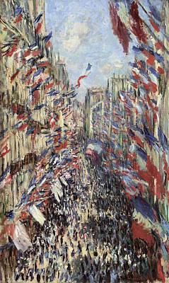 Bastille Day Celebration Painting - Monet Celebration, 1878 by Granger