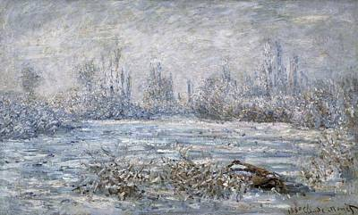 Vetheuil Photograph - Monet, Claude 1840-1926. Frost by Everett