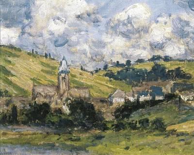 Vetheuil Photograph - Monet, Claude 1840-1926. Landscape by Everett