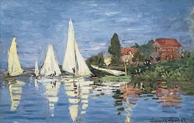 Impressionist Photograph - Monet, Claude 1840-1926. Regatta by Everett