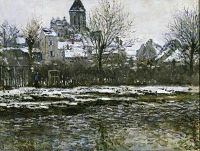 Vetheuil Photograph - Monet, Claude 1840-1926. The Church by Everett