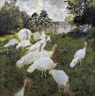 Monet, Claude 1840-1926. The Turkeys Art Print by Everett