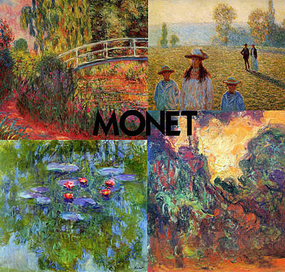 Montage Painting - Monet Collage by Philip Ralley
