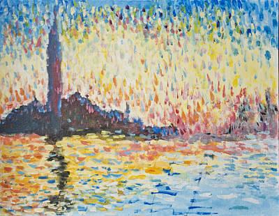 Monet Evening In Venice Art Print