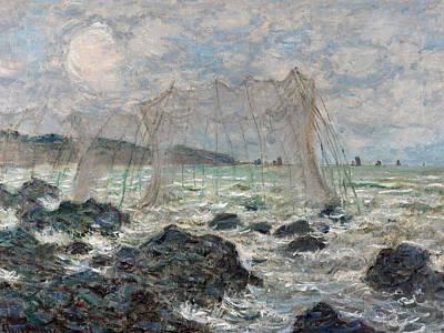 Net Painting - Monet Fishing Nets, 1882 by Granger