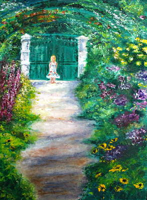 Painting - Monet Garden Admirer by Tracey Peer