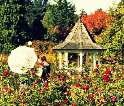 Photograph - Monet Inspired Ladies In The Garden by Mindy Bench