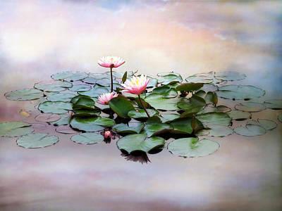 Lilies Digital Art - Monet Lilies  by Jessica Jenney