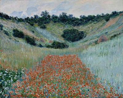Poppies Field Painting - Monet Poppy Field In A Hollow Near Giverny 1885 by Movie Poster Prints