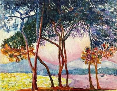 Painting - Monet' S Trees by Aditi Bhatt