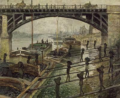 Monet The Coalmen 1875 Art Print by Movie Poster Prints