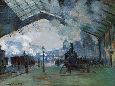 Gare Painting - Monet Train, 1877 by Granger