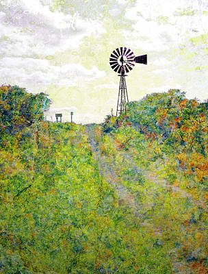 Photograph - Monet Windmill by Rick Mosher