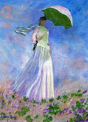 Painting - Monet Woman With Parasol by Jamie Frier