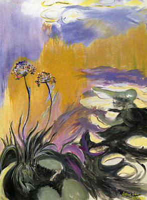 Painting - Monet's Agapanthus by Jamie Frier