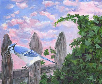 Monet's Blue Jay Art Print