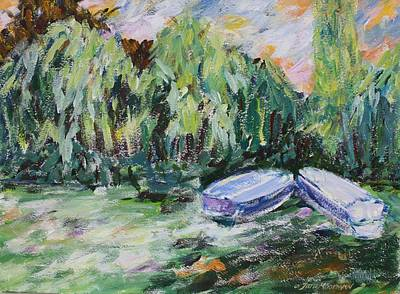 Painting - Monet's Boats by Tara Moorman