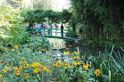 Photograph - Monet's Bridge At Giverny by Jacqueline M Lewis