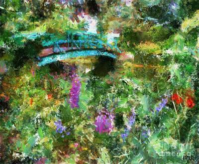 Monet's Bridge In Spring Art Print by Dragica  Micki Fortuna