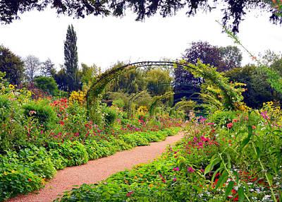 Photograph - Monet's Front Garden by Carla Parris