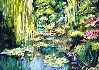 Monet's Garden Art Print by Cindy Morgan