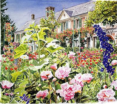 Monet's Garden Giverny Art Print by David Lloyd Glover