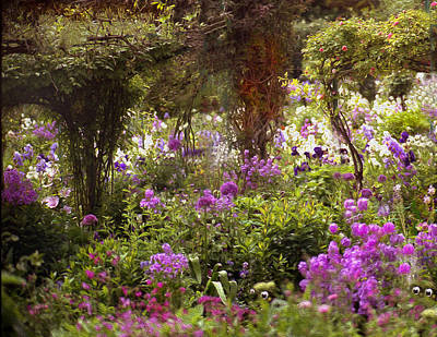 Photograph - Monet's Garden - Impression by Gene Norris