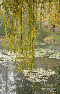 Fry Bread Photograph - Monet's Garden Number One by Joan Liffring-Zug Bourret