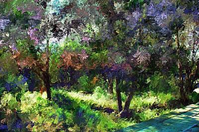 Monet's Garden Art Print by Terence Morrissey