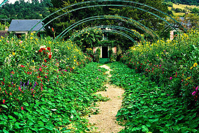 Monet's Gardens At Giverny Art Print by Jeff Black