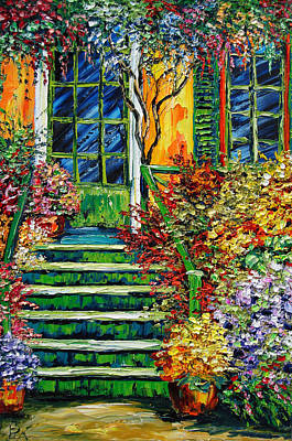 Sasik Painting - Monet's Giverny Oil Painting by Beata Sasik